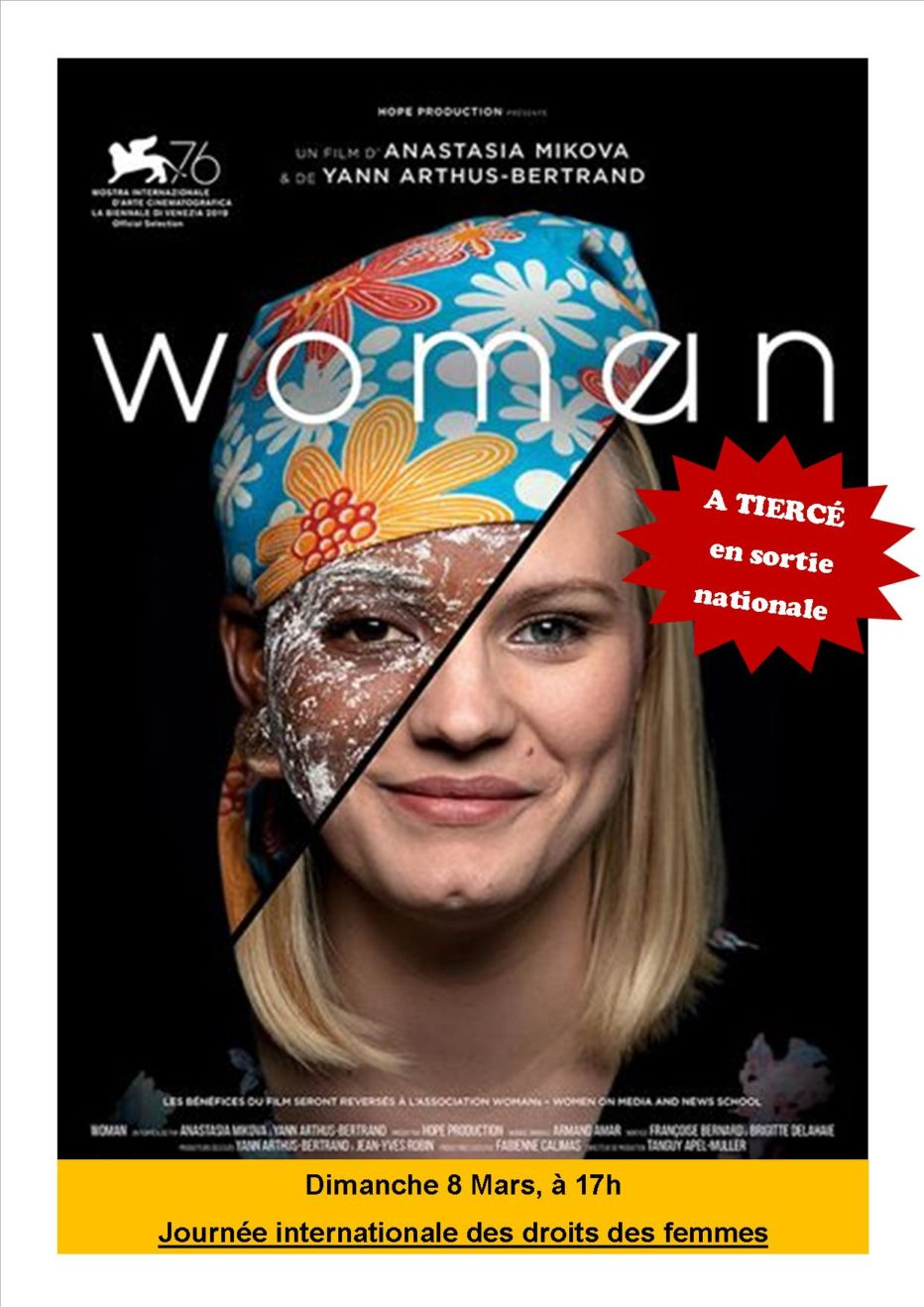 « Woman » en sortie Nationale à Tiercé !